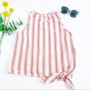 Madewell side bow striped tank top